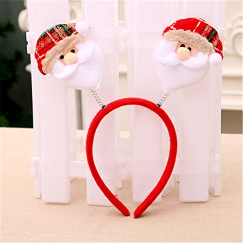 byjapp 2019 Explosionsmodelle Weihnachts-Stirnband Kopfschnalle kleine Hand Weihnachten Licht Single Stirnband Kopfschmuck Weihnachten Dekoration Farbe B