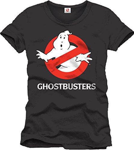 Ghostbusters - T-Shirt con logo degli acchiappa fantasmi - Con licenza ufficiale - Cotone - Nero - XL