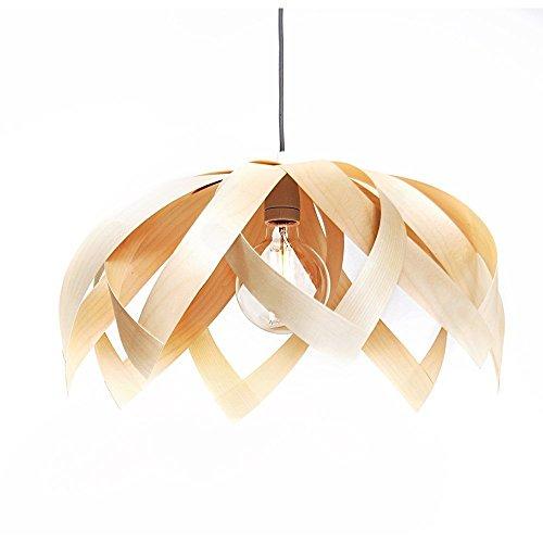 Yndlingsting | Lotus Ahorn | Pendelleuchte Holz aus Ahorn Furnierholz