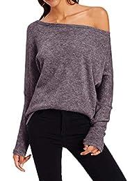 Simple-Fashion Otoño Invierno Mujeres Suéter Casual Prendas de Punto Tops Sweater Blusa Jerseys Moda