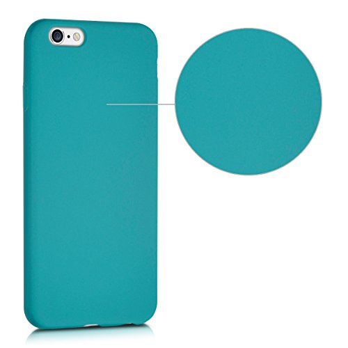 kwmobile Hülle für Apple iPhone 6 / 6S - TPU Silikon Backcover Case Handy Schutzhülle - Cover Metallic Rosegold .Petrol matt