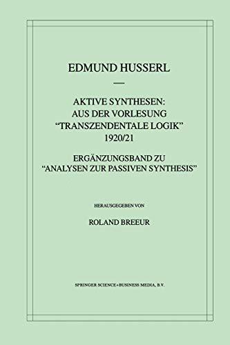 Aktive Synthesen: Aus Der Vorlesung