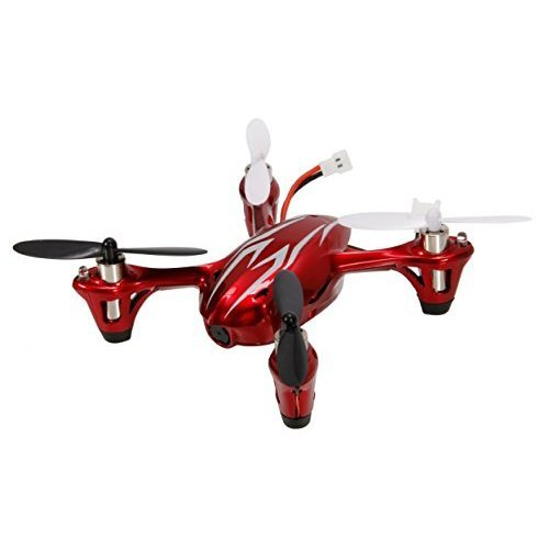 Hubsan X4 H107C - Quadcopter (cámara 2 Mp, 2.4 GHz, LCD), color rojo