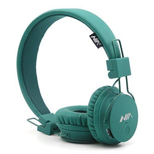 Sony Am Wiederaufladbare Fm-radio, (GranVela® X2 Over-Ear-Bluetooth-Kopfhörer, faltbar 4 in 1 Stereo Kinder Kopfhörer-drahtlose freihändige Kopfhörer mit Mikrofon und MicroSD Card Player, Radio, AUX für iPhone, Samsung und mehr (Deep Green))