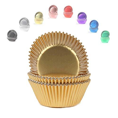Miss Bakery's House® Mini Muffinförmchen Folie - Ø 32 mm x 20 mm - Gold - 120 Stück Mini-muffin-form