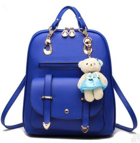 HQYSS Borse donna Ragazza alla moda spalle studente coreano di capacità grande zaino , light gray days blue