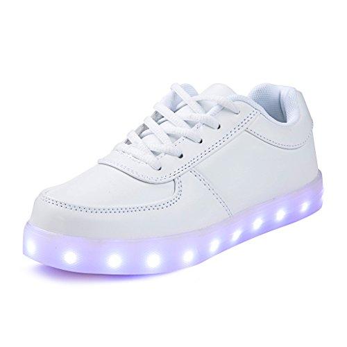 Jungen Mädchen LED Leuchtende Schuhe USB Aufladen Blinken Sportschuhe 7 Farbe Farbwechsel Lichter Turnschuhe Sneaker Herren Damen