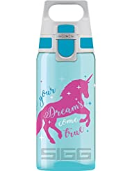 Sigg Viva One Unicorn, Kinder Trinkflasche, 0.5 L, Polypropylen, Bpa Frei, Türkis Kinderflasche, Aqua, 0.5 Liter