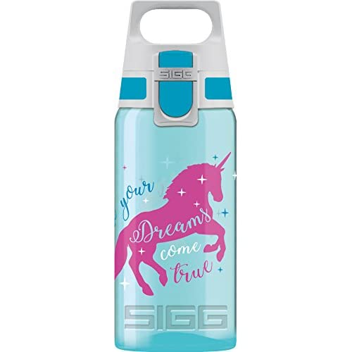 Sigg Dreams Come True Children's Drinking Bottle (0.5 Litre), Non-toxic Kids Water Bottle with Non-spill Lid…