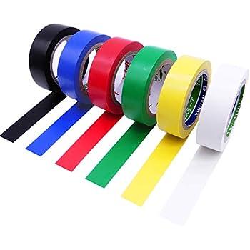 New PVC 6 Rolls Insulation Assorted Colour Flame Retardant Tape 4.5m