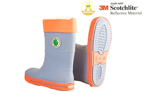 Pepperts Kinder Regenstiefel 110954 Blau/Flieder/Orange