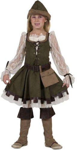 (Robin Hood Girl Kostüm Mädchen Gr. 140)