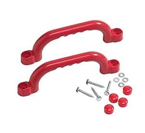 Maniglie di plastica per giochi da giardino, colore: rosso