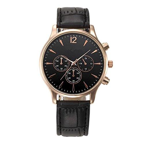 Orologio maschile elegante in pelle di lusso per affari cronografo - lusso moda coccodrillo finto cuoio mens analogico orologio da polso orologi morwind (nero)
