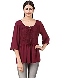 Mind The Gap Solid Maroon Top