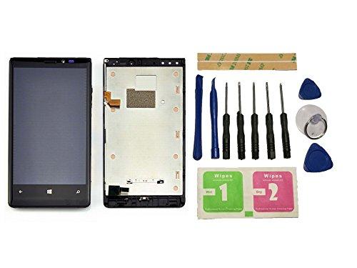 Flügel for Nokia Lumia 920 Display LCD Ersatzdisplay Schwarz Touchscreen Digitizer Bildschirm Glas Komplett Einheit mit Rahmen Ersatzteile & Werkzeuge & Kleber -
