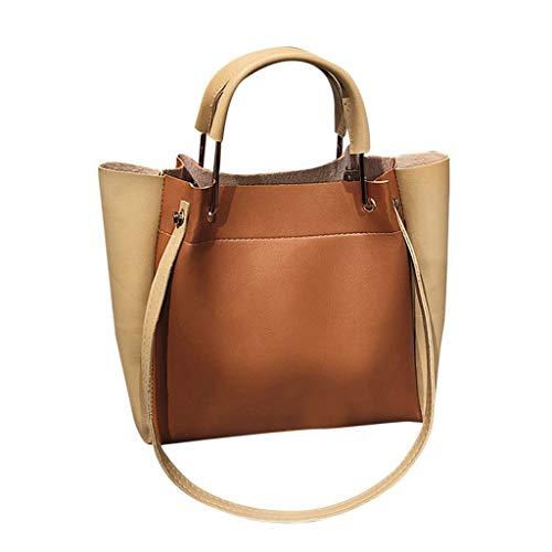 Lazzboy Umhängetasche Handtaschen Große Frauen Tasche Lässig Weiblichen Taschen Stamm Tote Tägliches Einkaufen(Braun)