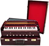 Jyotaksh Store Best Harmonium 9 Stopper, Chudidaar Bellow, 42 Key, Two Reed(Bass-Male),3 1/2 Octave,Coupler, Harmonium With Cover