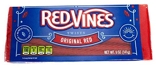 RED VINES ORIGINAL RED TWISTS 141g (SINGLE PACK) AMERICAN IMPORTED