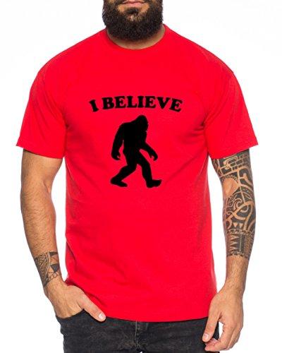 Big Foot Nerd Herren T-Shirt Rot