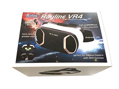efaso Rayline Virtual Reality Brille VR2 3D Brille für Smartphones VR4B Blaue Linsen