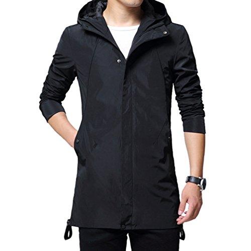 YiLianDa Casuale Sport Uomo Inverno Moda Giacca Uomini Tendenza Cappotto Nero(062)