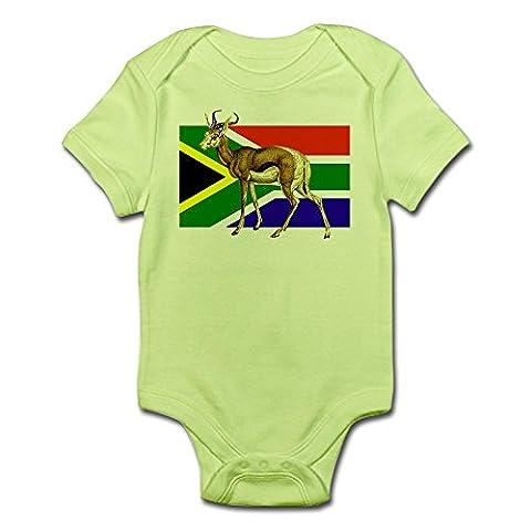 CafePress - South Africa Springbok Flag - Cute Infant Bodysuit Baby Romper