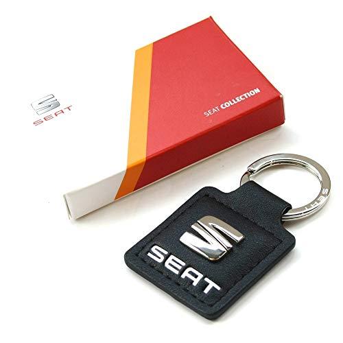 Seat 6H1087011GAA Schlüsselanhänger Original Anhänger Icon Logo, schwarz