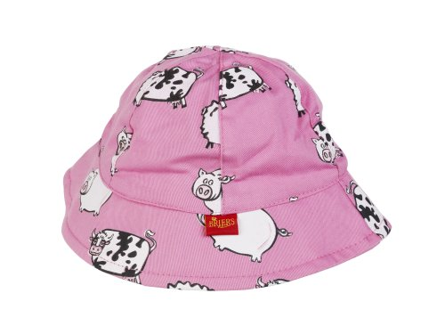 Pink Briers Children's Sun Hat - Farm Animal Design