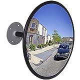 vidaXL Miroir Convexe d'Intérieur Noir Acrylique Trafic Route Sortie de Garage