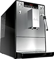Melitta SOLO & Perfect Milk E957-101, Bean to Cup Coffee Machines, Automatic Cappuccino Maker, Black/Silver