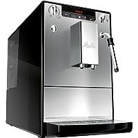 Melitta E953-102 953-102-Cafetera automaticá (1.2L, 15 Bar, Molinillo Integrado, espumador de Leche, 1400 W, 1.2 litros, Acero Inoxidable, Plata