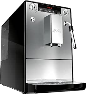 Melitta E953-102 Caffeo Solo and Milk Fully Automatic Coffee Maker with Milk Steamer - Silver and Black