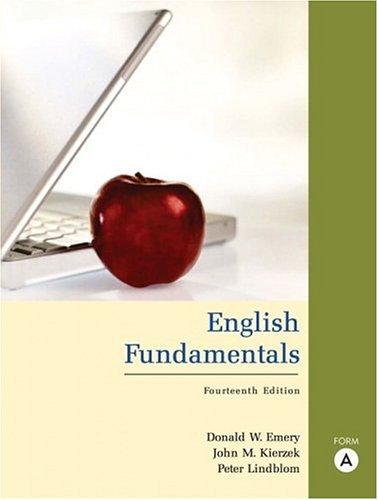 English Fundamentals, Form A (book alone)