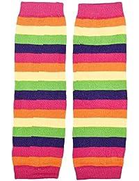 Voberry Unisex-Baby Rainbow Kneepad Socks Leg Warmer For Autumn Winter