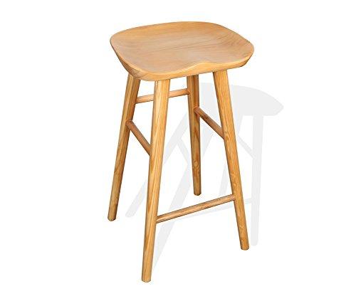 GAPJBD CYJZ® Barhocker, Bar Hoher Hocker Massivholz Cafe Counter Hohe Rückenlehne Kreative Tall Rezeption Küchenstuhl European High 55cm dauerhaft (größe : 42*32*55cm)