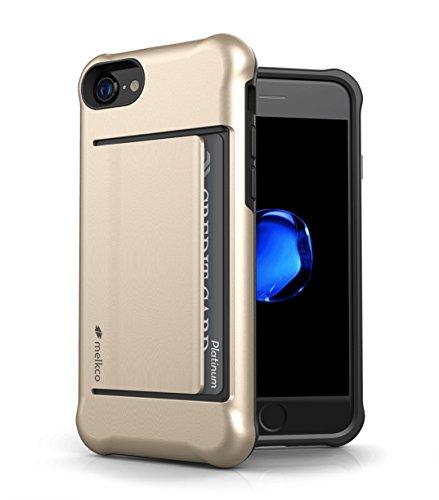 Apple Iphone 7 Melkco Elite-Serie Premium Leder-Snap zurück Tasche Tasche mit Premium-Leder Handgefertigte gute Schutz, Premium Feel-Tan Gold