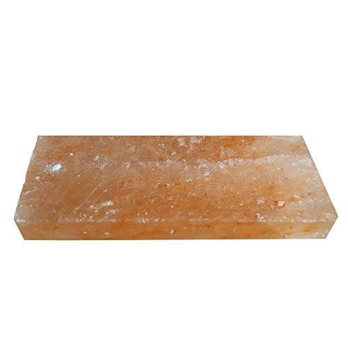 GOURMET Salz-Grillstein Grillplatte 20 x 10 x 2,5 cm reinstes Kristallsalz aus der Salt-Range in Pakistan
