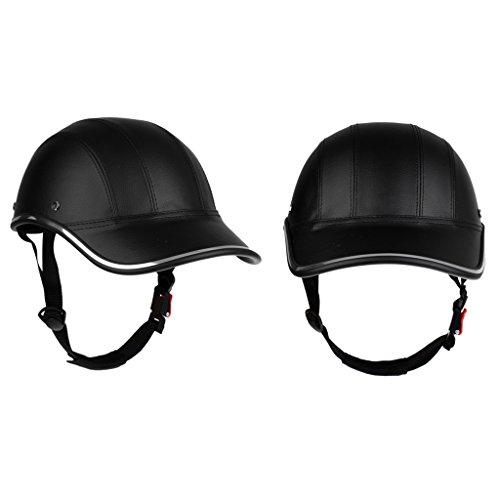 Sharplace 2 Stück Baseball Kappe Förmig Motorrad Fahrradhelm Anti-UV Schutz Sturzhelm