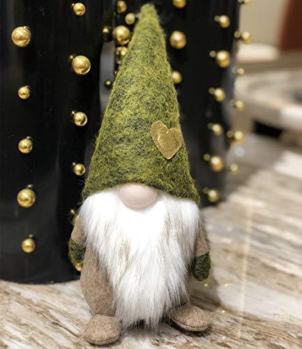 Amazlab Weihnachtsmann Plüschfigur mit Frühling, Spritzer und lustiger Weihnachtsdekoration, Rot Green GNOME 11in