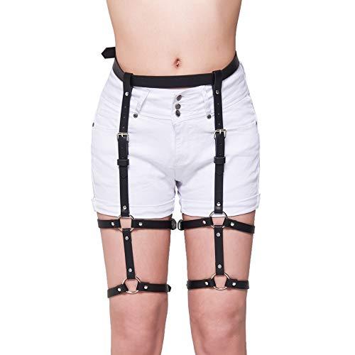 Homelex Sexy Punk Leder Taille Bein Caged Harness Gothic Strumpfband Für Damen (style 2)