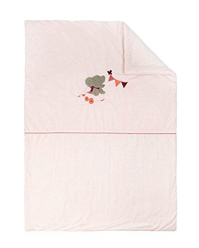Nattou Babydecke Mädchen, 135 x 100 cm, rosa - Adèle und Valentine