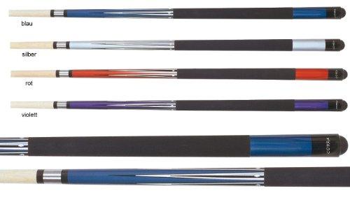 Preisvergleich Produktbild Pool Queue Cobra C mit tollem Metallic-Effekt und Super-Grip,  Farbe:blau