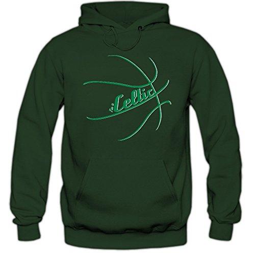 I'm a Celtic #2 Hoodie Basketball Hoodies Play Offs Streetball USA Kapuzenpullover, Farbe:Dunkelgrün (Bottlegreen F421);Größe:S