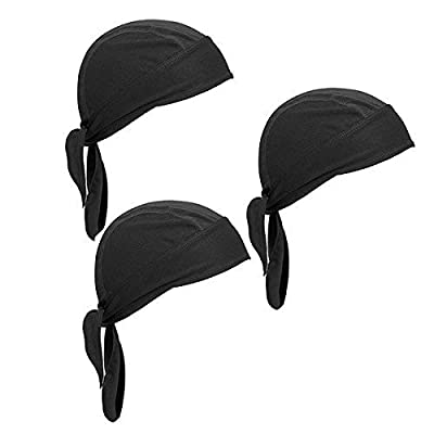 UIEEGPG 3 Pcs Sports Headwear Quickly Dry Sun UV Protection Outdoor Head Wrap Men&Women Skull Cap Under Helmet Cycling Hat Motorcycle Biker Cap by UIEEGPG