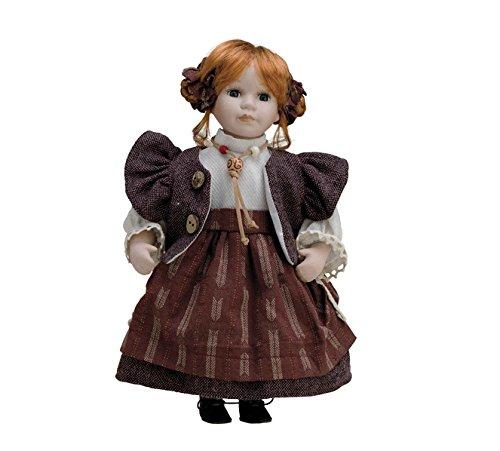 Muñeca de Porcelana de 30 cms con soporte. CARMEN - BAM017