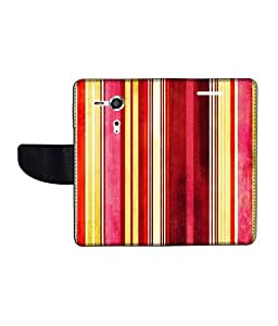 KolorEdge Printed Flip Cover For Sony Xperia SP Multicolor -(45KeMLogo12089XperiaSP)