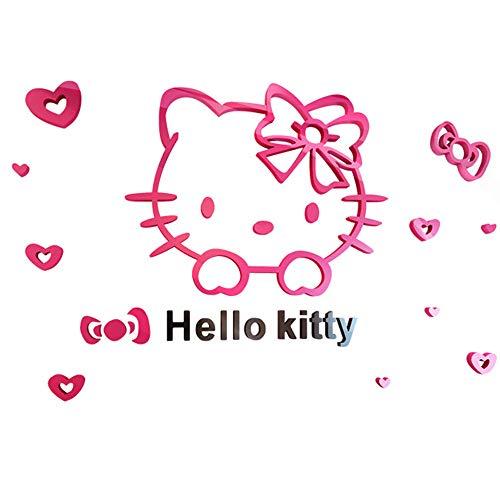 WYCY 3D Acryl Stereo Wandaufkleber Cute Pink Kitten Tapete Nacht Hintergrund Wandaufkleber XX-Large