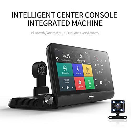 QWERDF 7.84 Pulgadas IPS 4G Pantalla Táctil Android DVR Dashcam, 170 ° Cámara Gran Angular Navegación ADAS Full HD 1080P Grabador De Video para Automóvil Monitor De Estacionamiento con Doble Lente,4G