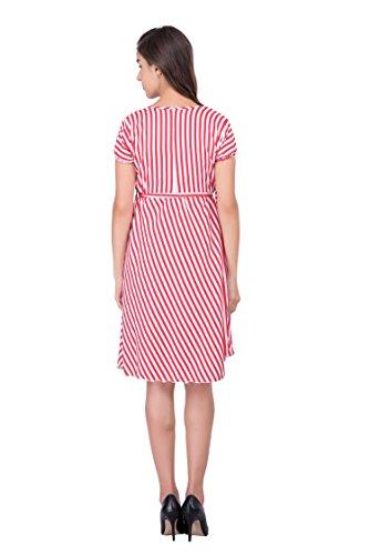 ABODOS-FASHION-Red-Stripe-Printed-Crepe-Dress